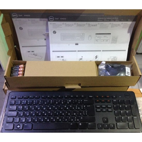 DELL KM632 Keyboard and Mouse WIRELESS SET