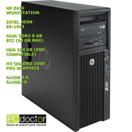 HP Z420 REFURBISHED PRO WORKSTATION XEON E5-1603